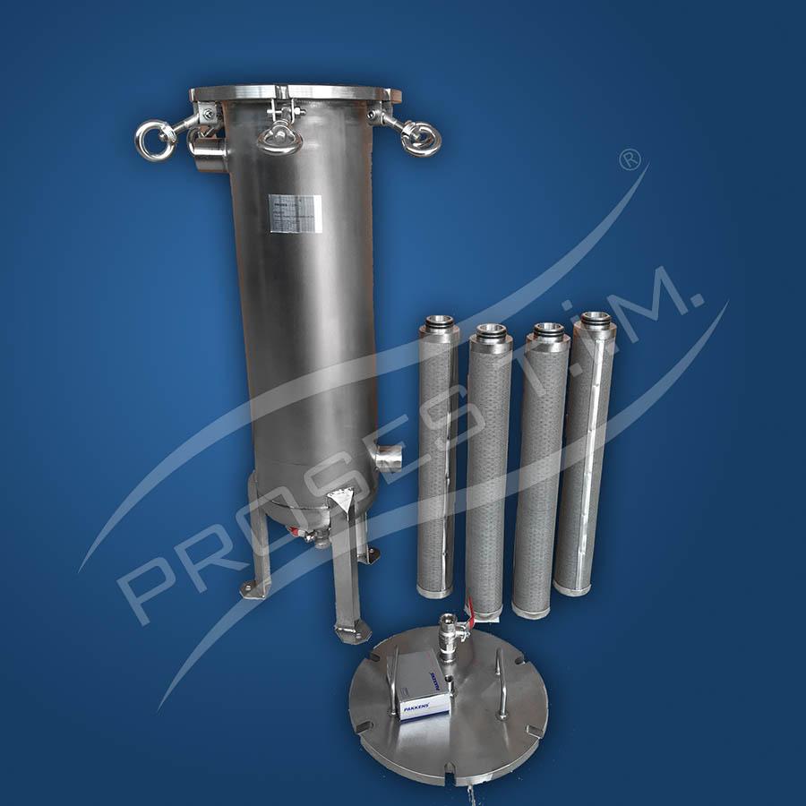 5-6-7 ve 8 Kartuşlu Paslanmaz Çelik Filtre Kabı