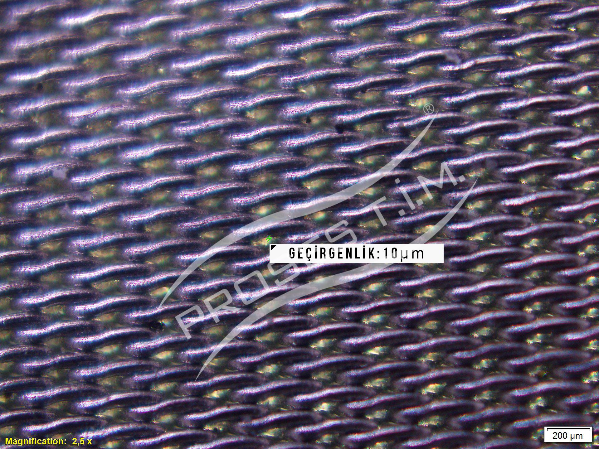 10 Micron Çift Örgülü Filtre Elek Teli