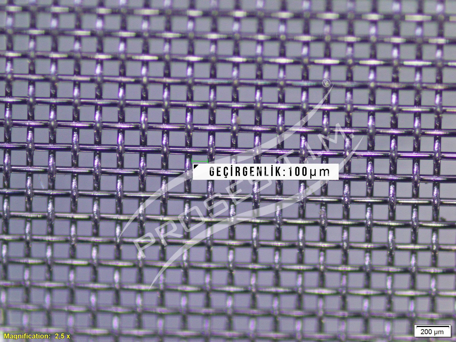 150 Mesh 100 micron Filtre Elek Teli
