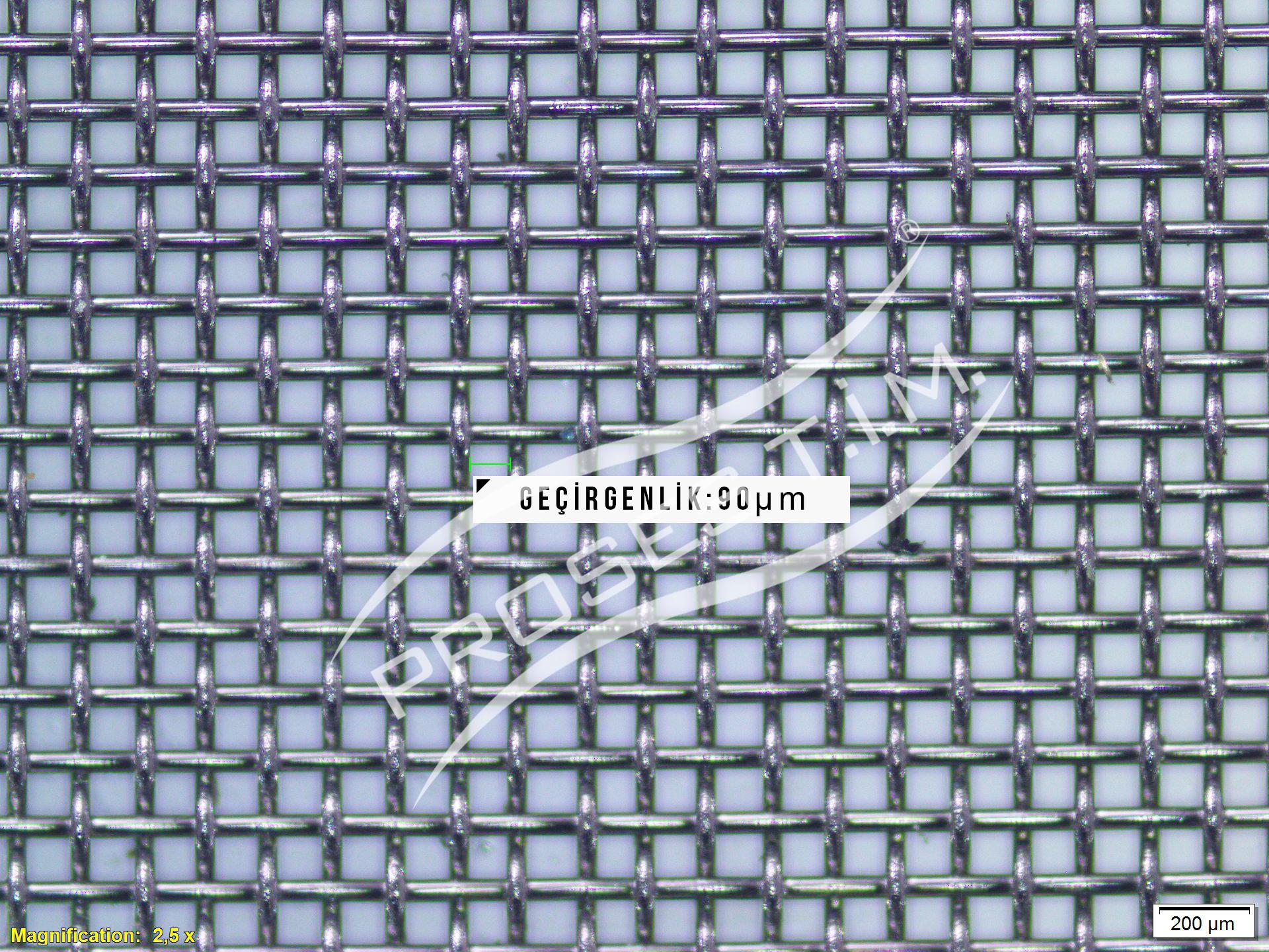 180 Mesh 90 micron Filtre Elek Teli