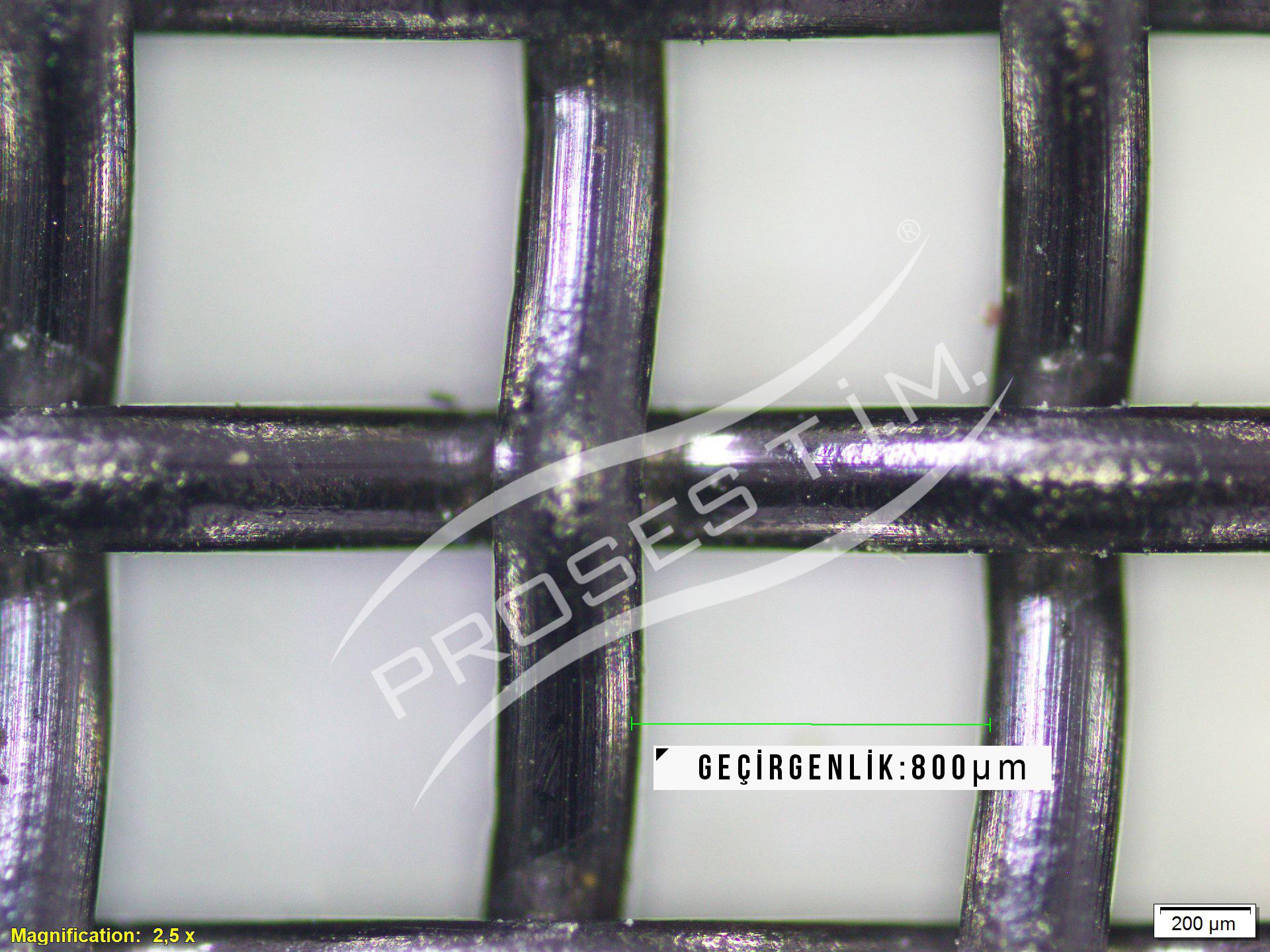20 Mesh 800 Micron Filtre Elek Teli