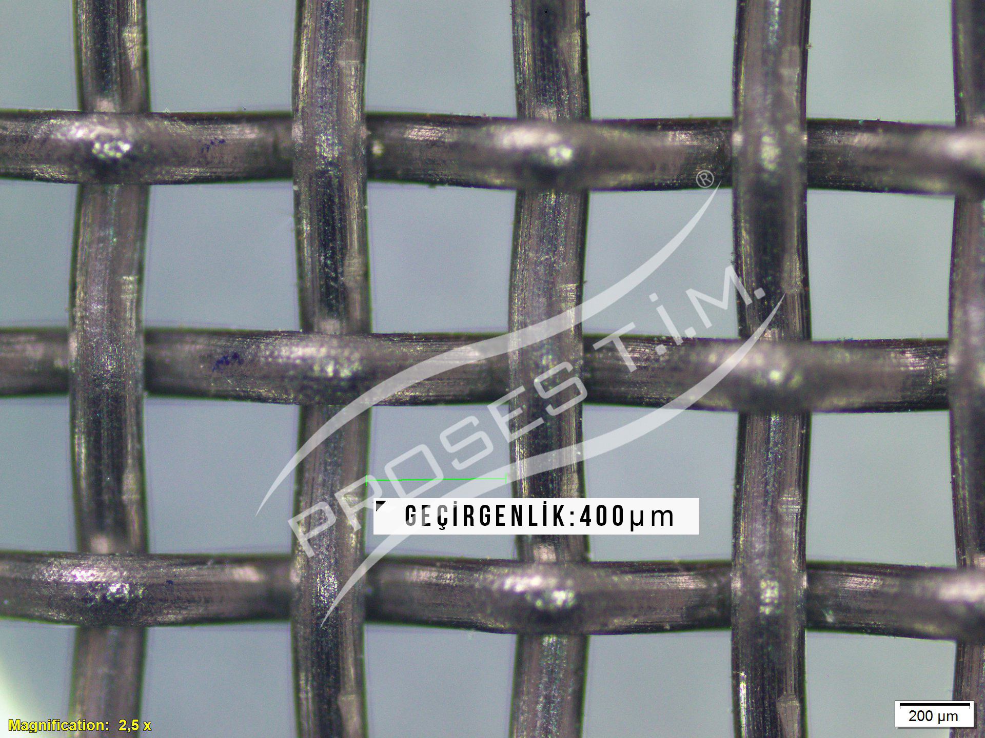 40 Mesh 400 micron Filtre Elek Teli