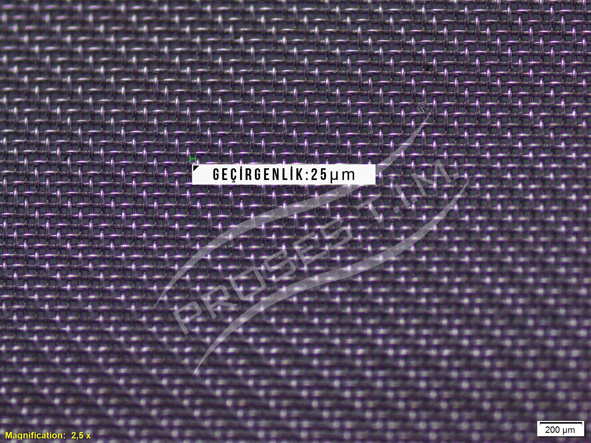 500 Mesh 25 micron Filtre Elek Teli