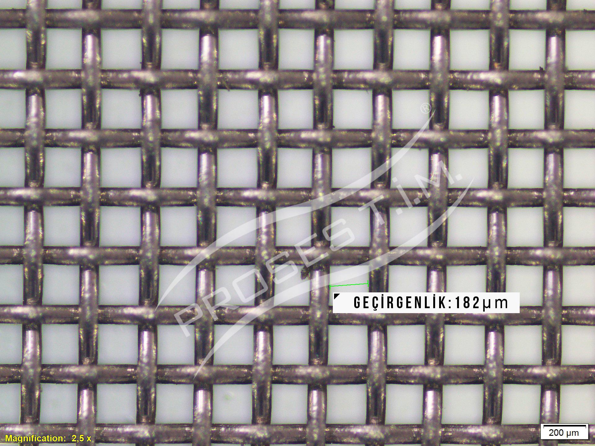90 Mesh 182 micron Filtre Elek Teli